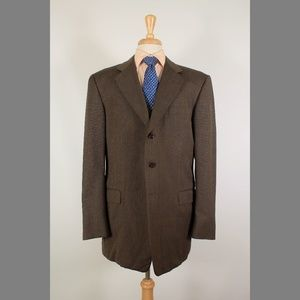 Hickey Freeman 44L Brown Sport Coat B519